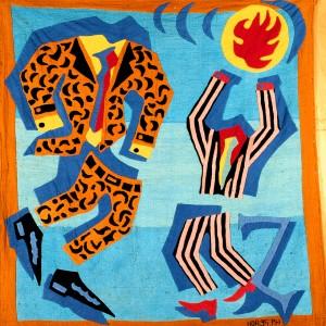 Zaïre (série les pays de la francophonie) tissu appliqué, 100 x 98 cm, 1995