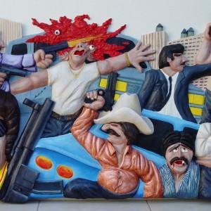Guernarco bas-relief en résine de polyester 95 x 160 cm, Miami-Beach 2004