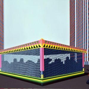 Place des Fêtes acrylique sur toile et vernis, 110 x 160 cm, 2009