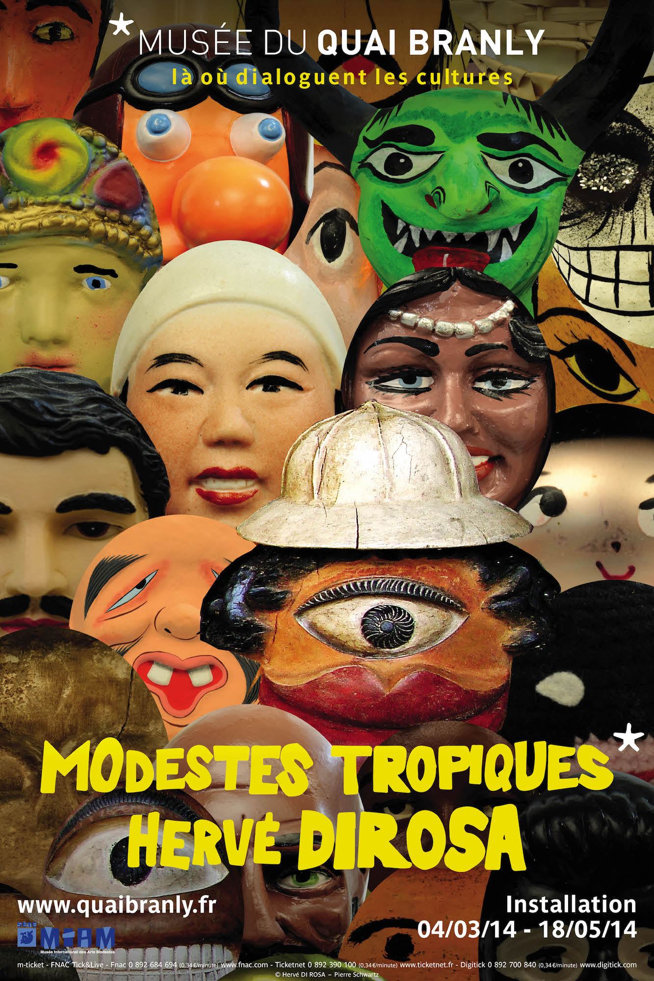exposition Modestes tropiques, Musée du Quai Branly, Paris 2014