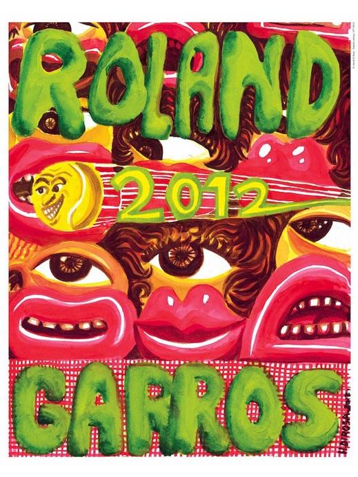 affiche ROLAND GARROS, Paris 2012