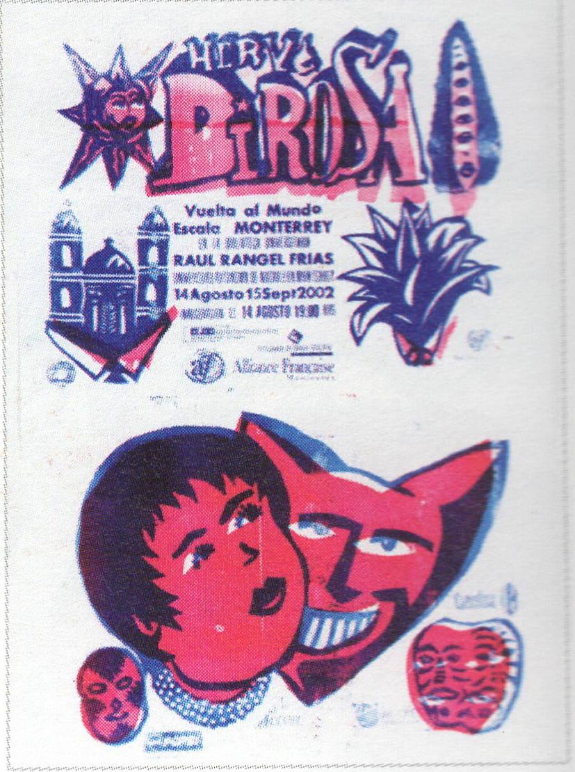 Affiche exposition Monterrey, Mexique, 2002